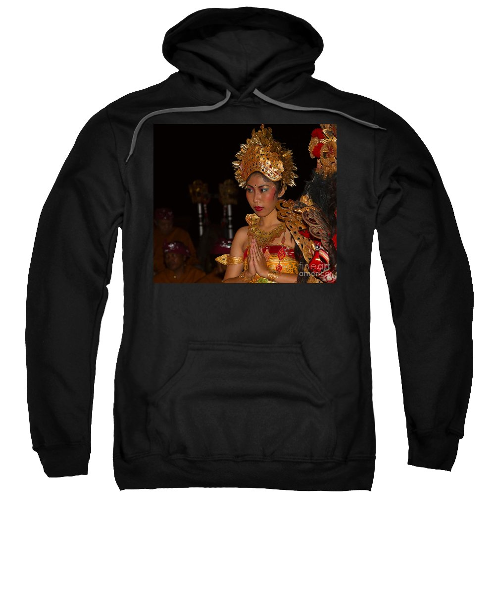 Dancer Sweatshirt featuring the photograph Balinese Dancer by Louise Heusinkveld