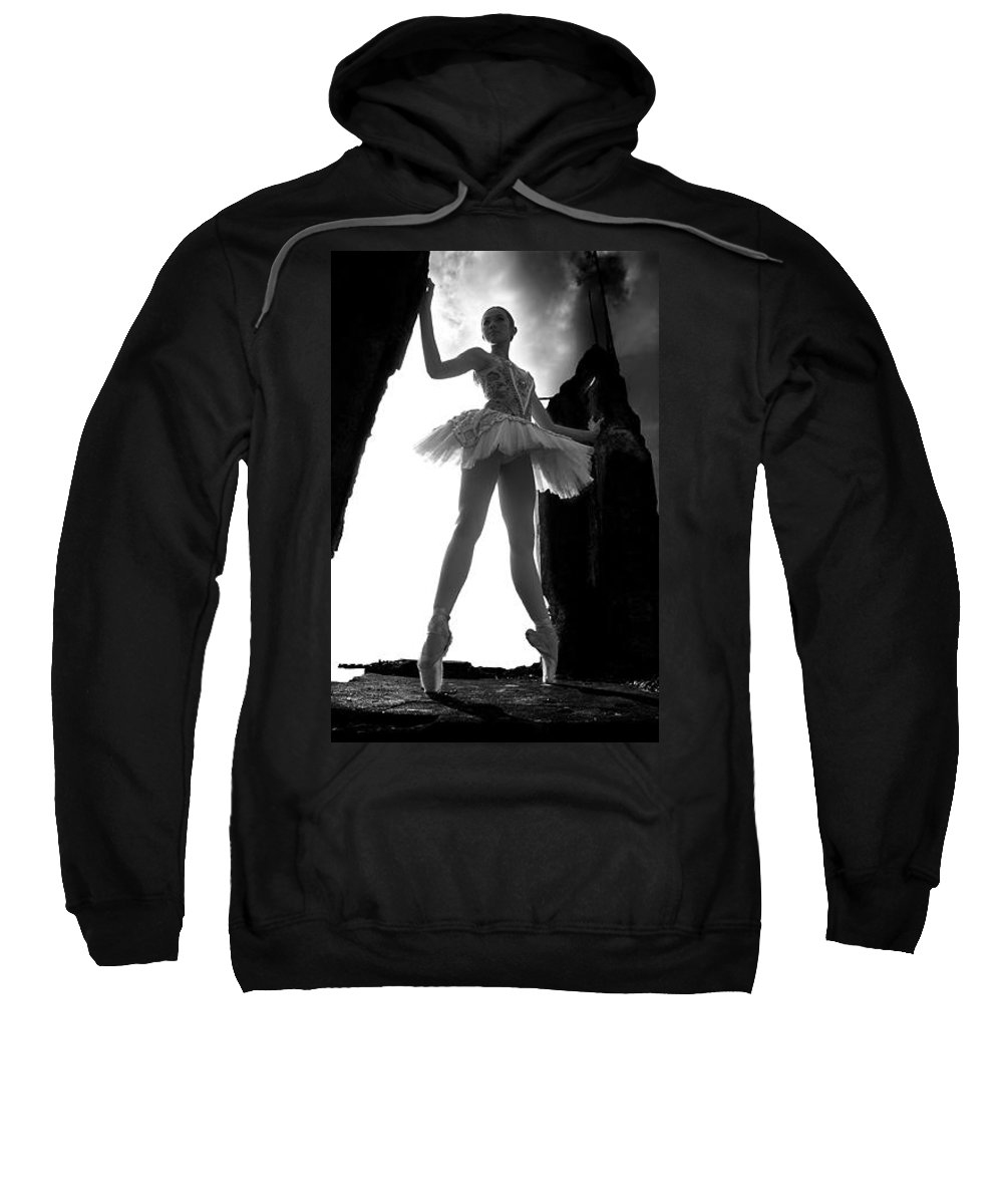 Ballet Dancer Sweatshirt featuring the photograph Ballet dancer1 by George Cabig