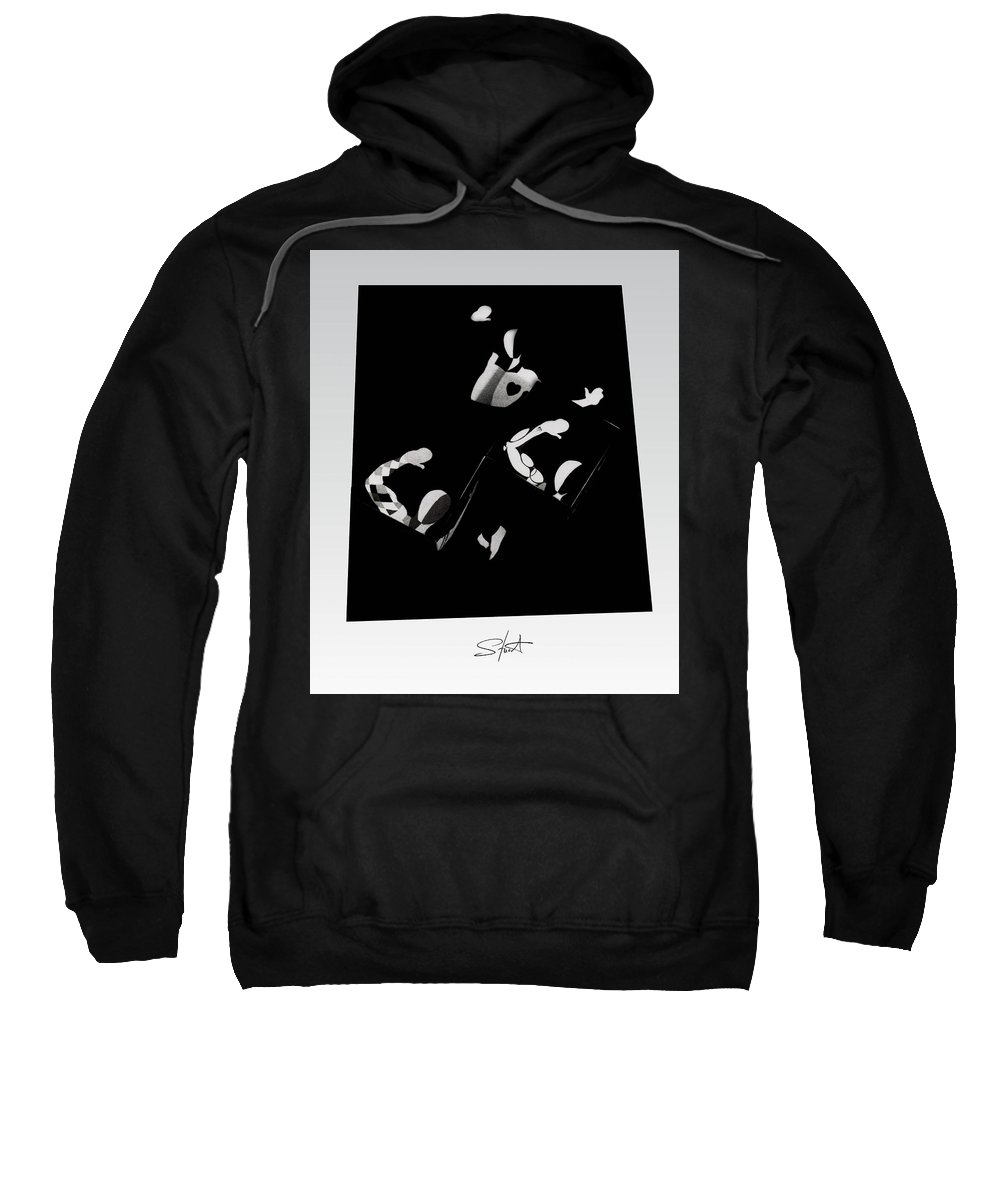 Dance Sweatshirt featuring the photograph Ballet Silouette by Charles Stuart
