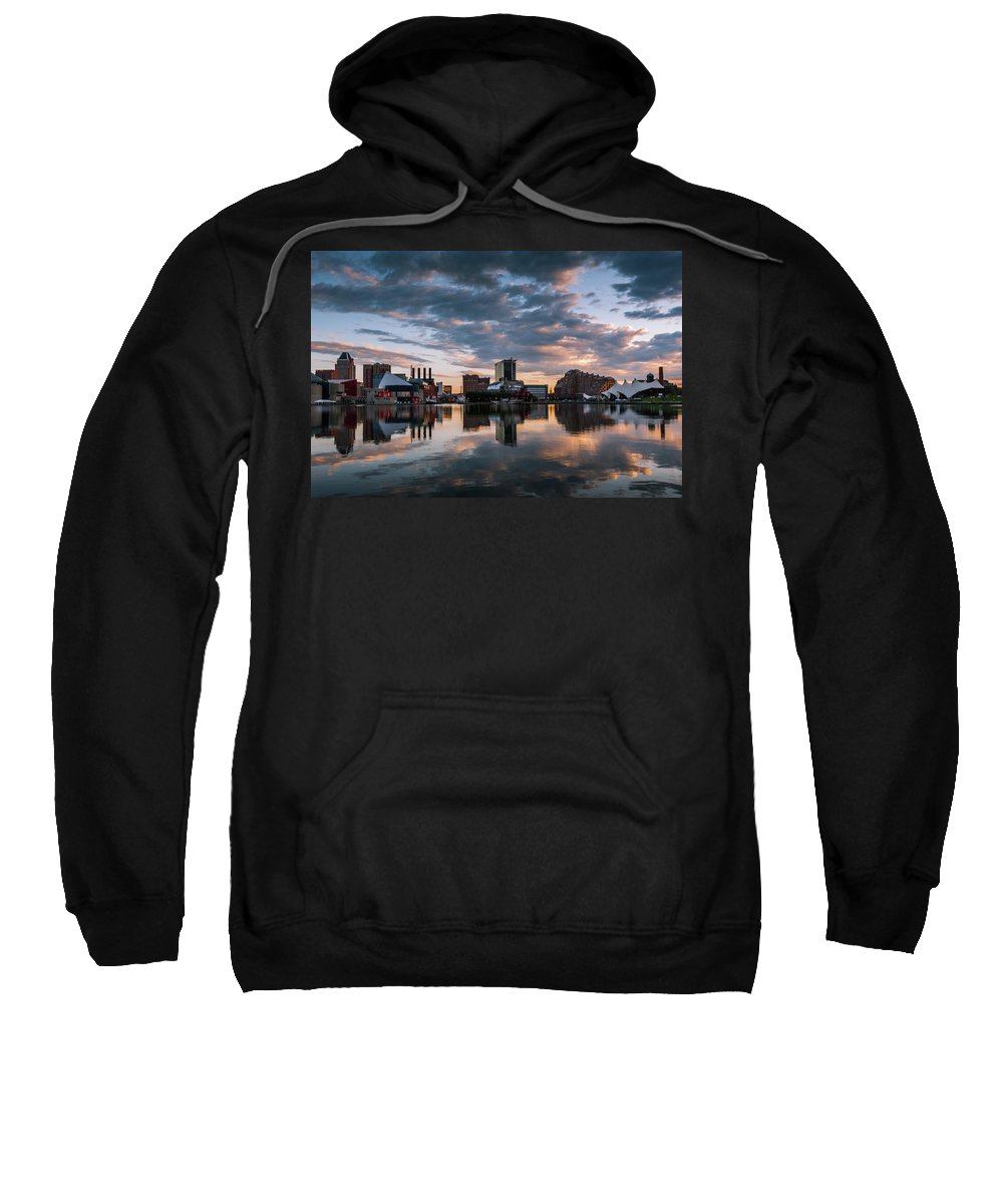 Baltimore Sweatshirt featuring the photograph Baltimore Dawn by Jim Archer