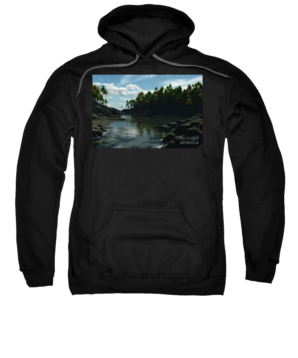 Rivers Sweatshirt featuring the digital art Banana River by Richard Rizzo