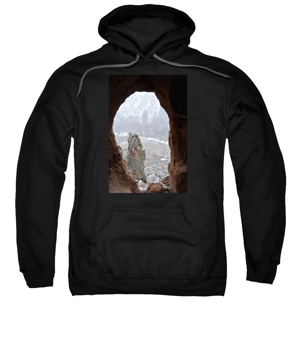 Indian Sweatshirt featuring the photograph Bandelier Indian Ruins by David Arment
