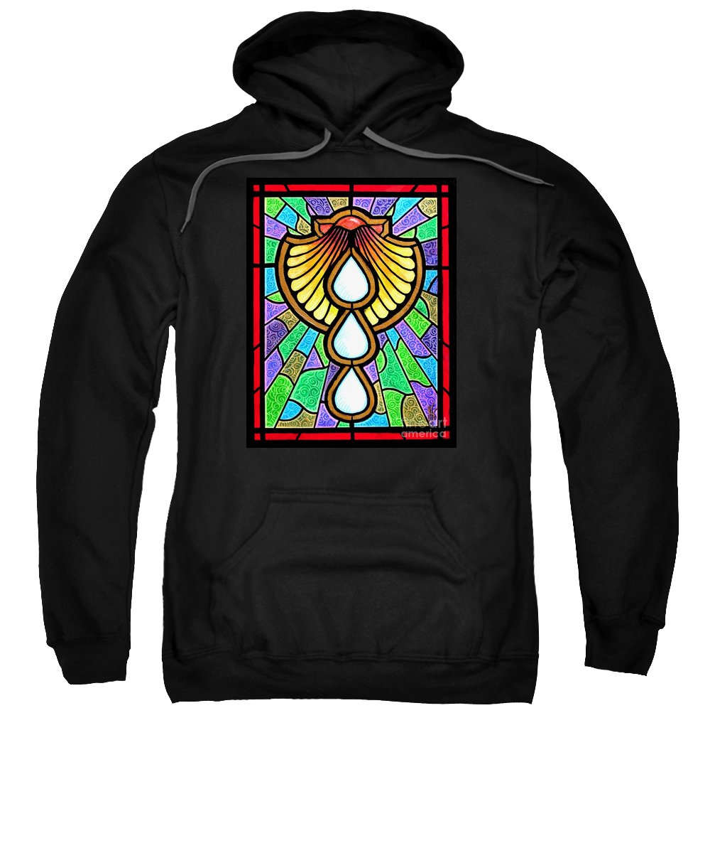 Baptism Sweatshirt featuring the painting Baptism by Jim Harris