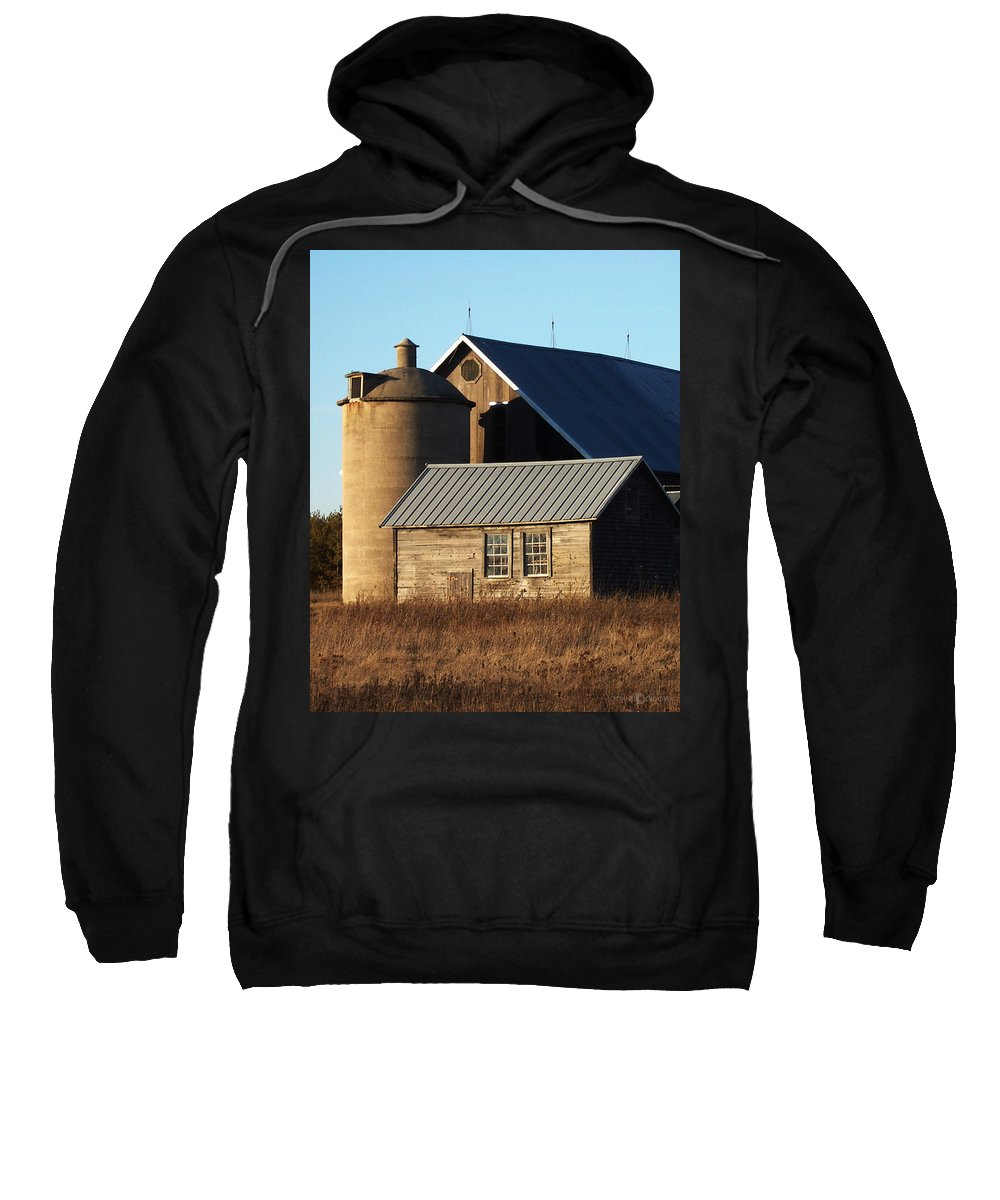 Barn Sweatshirt featuring the photograph Barn At 57 And Q by Tim Nyberg