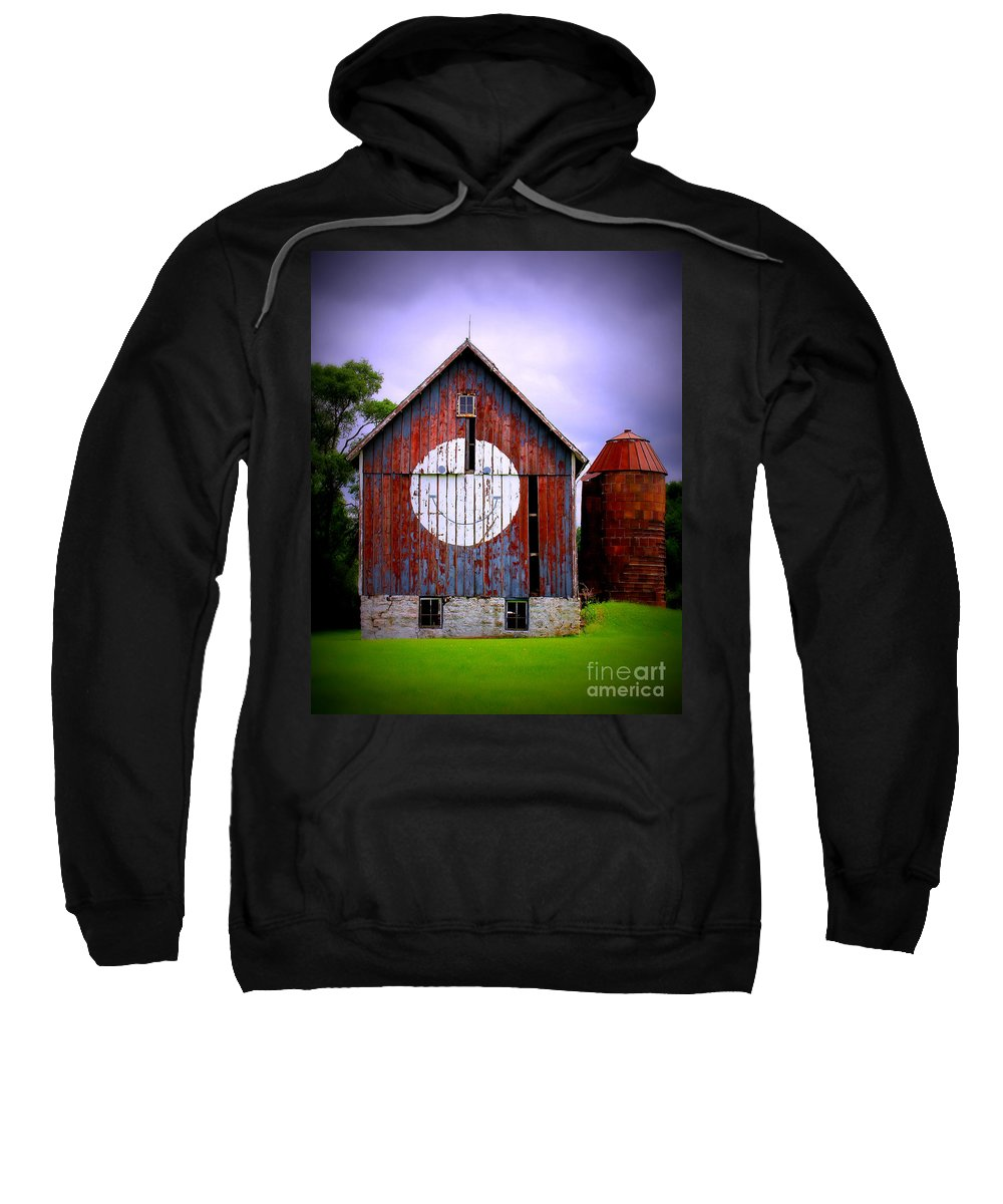 Barn Sweatshirt featuring the photograph Barn Smile by Perry Webster