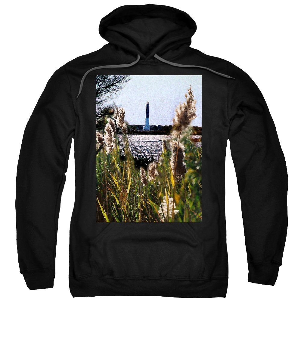 Barnegat Sweatshirt featuring the digital art Barnegat Bay by Steve Karol