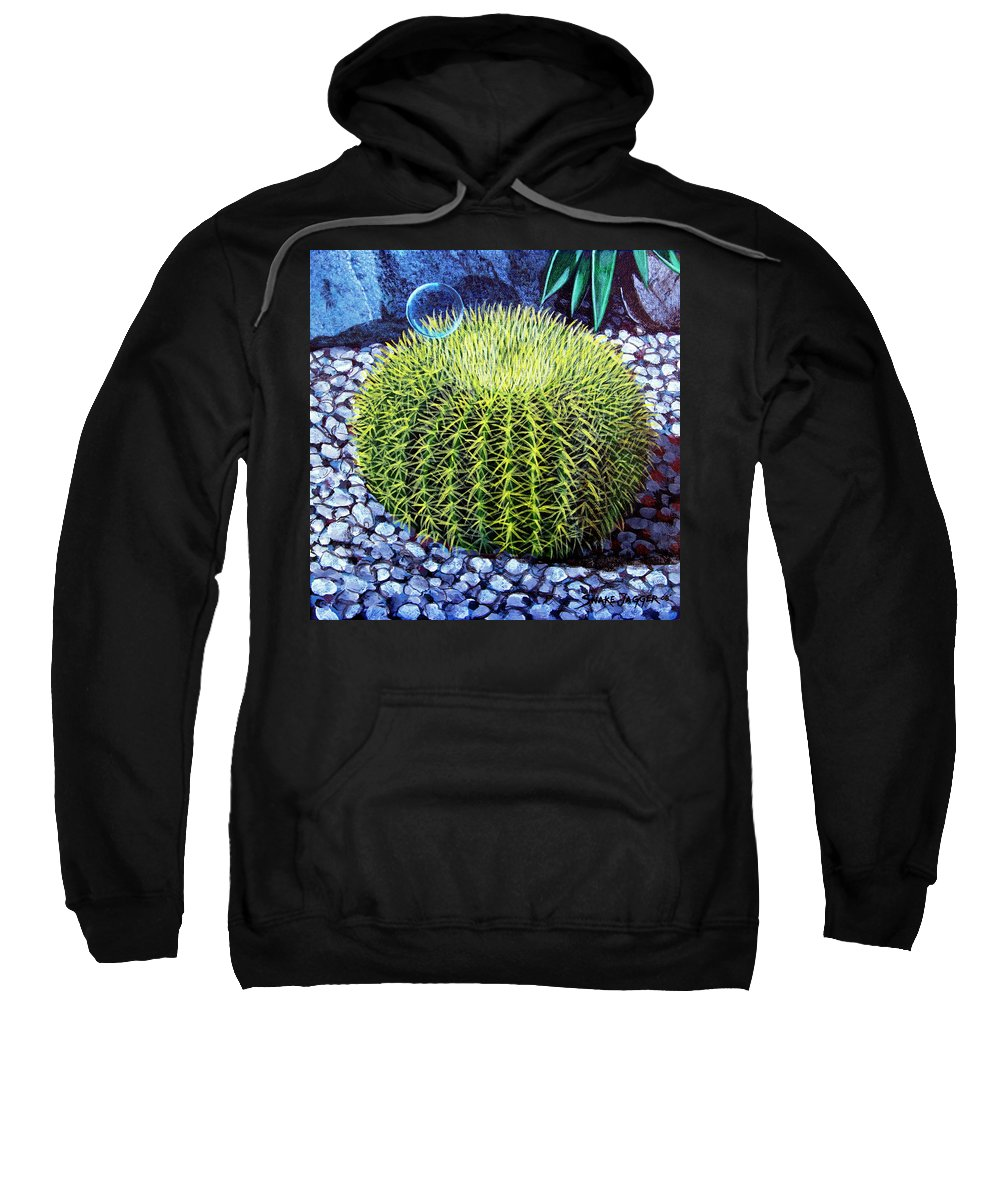 Nature Sweatshirt featuring the painting Barrel Bubble by Snake Jagger