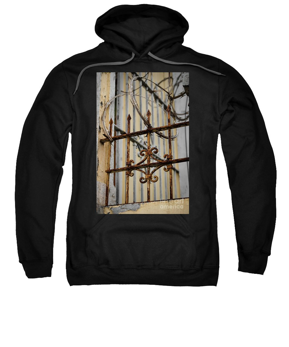 Barbed Wire Sweatshirt featuring the photograph Barriers by Carol Lloyd
