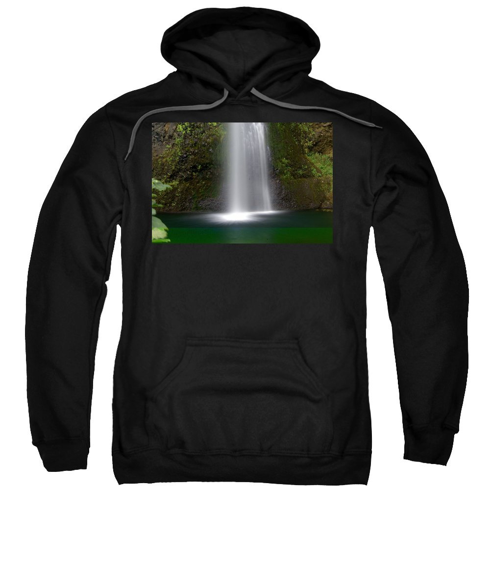 Waterfals Sweatshirt featuring the photograph Base Of The Falls by Marty Koch