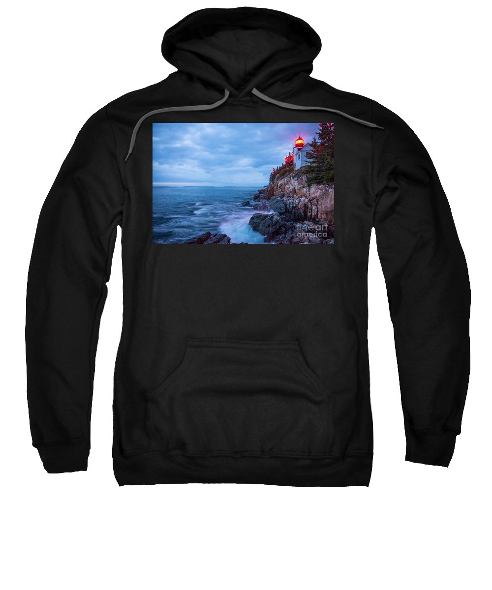 Bass Harbor Head Lighthouse Acadia National Park Maine Landscape Ocean Sweatshirt featuring the photograph Bass Harbor Head Lighthouse by Carl Paulson