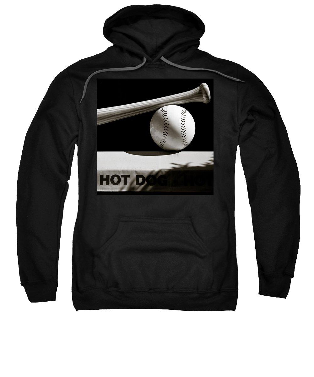 Baseball Bat Sweatshirt featuring the photograph Bat And Ball by Dave Bowman