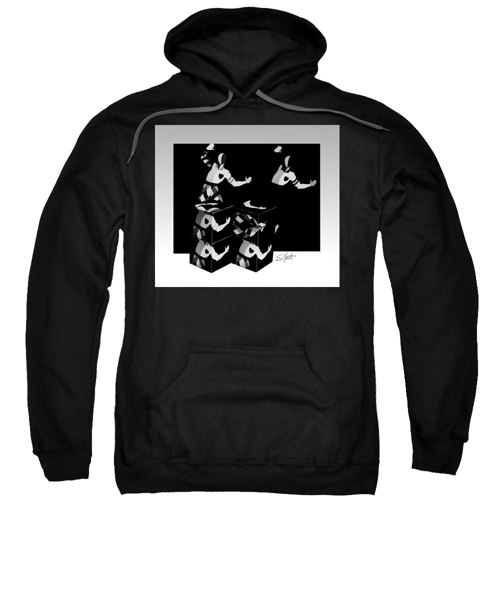 Dance Sweatshirt featuring the photograph Bauhause Ballet by Charles Stuart
