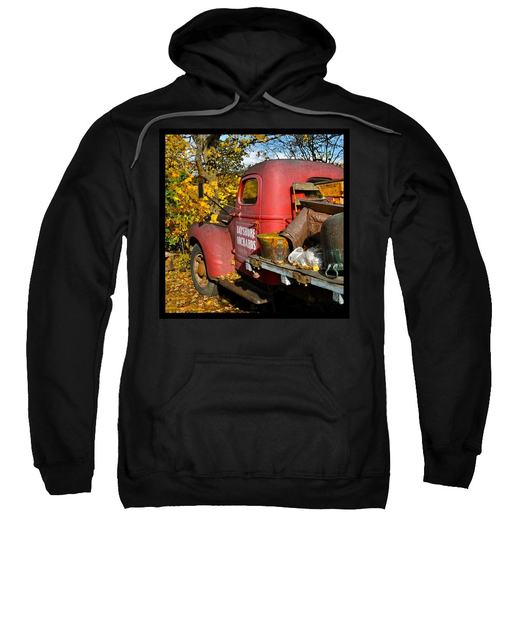 Truck Sweatshirt featuring the photograph Bayshore Orchards by Tim Nyberg