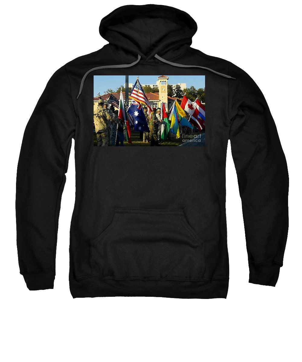 Bayshore Sweatshirt featuring the photograph Bayshore Patriots by David Lee Thompson