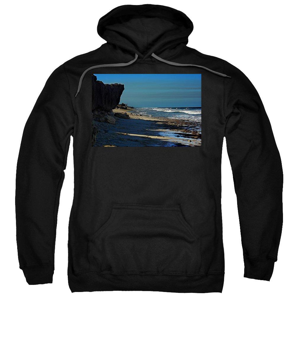 Beach Sweatshirt featuring the photograph Beach Hutchinson Island, Fl by Colleen Fox