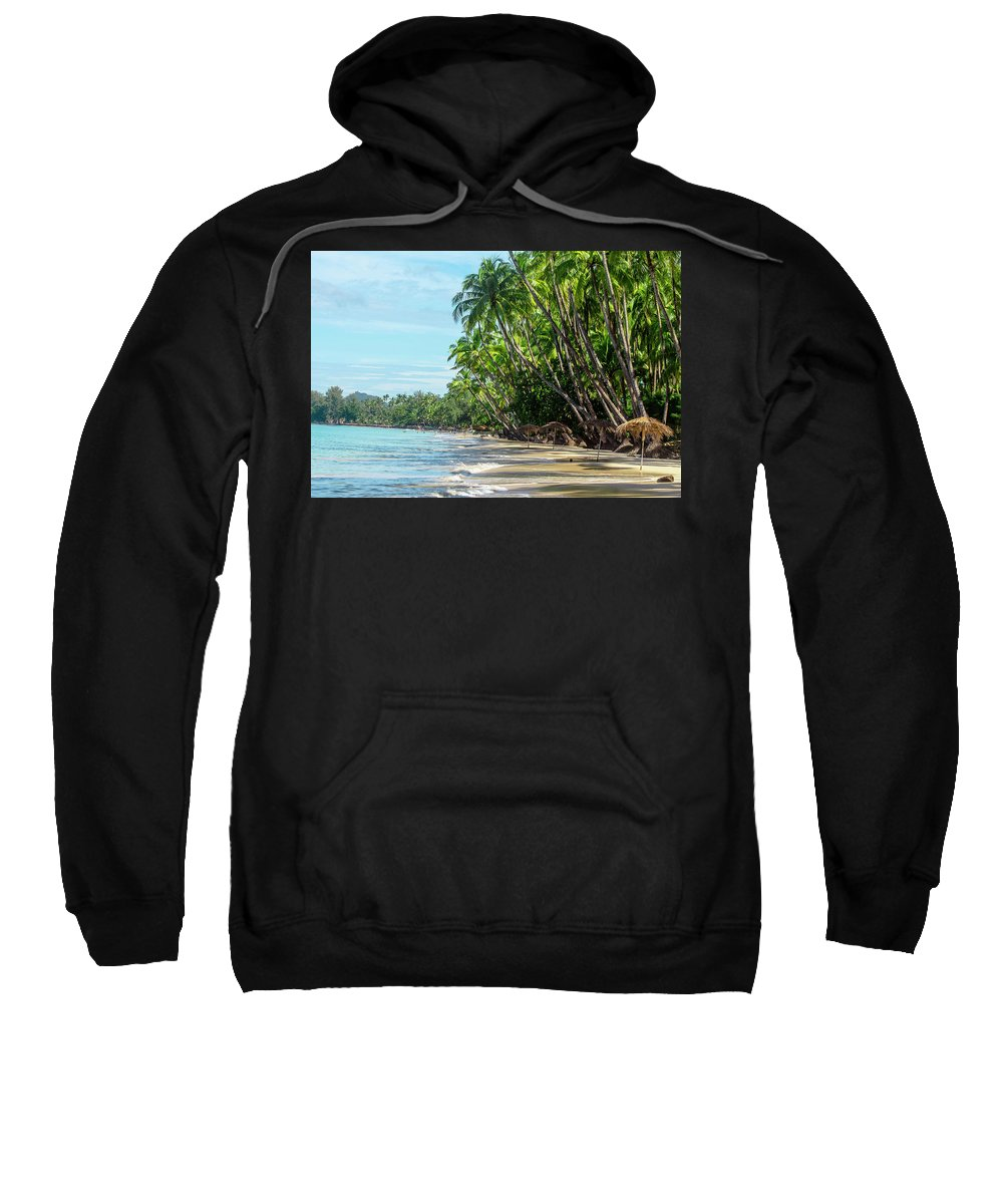 Beach Paradise Via Valeria Trot Sweatshirt featuring the photograph Beach Paradise by Valeria New