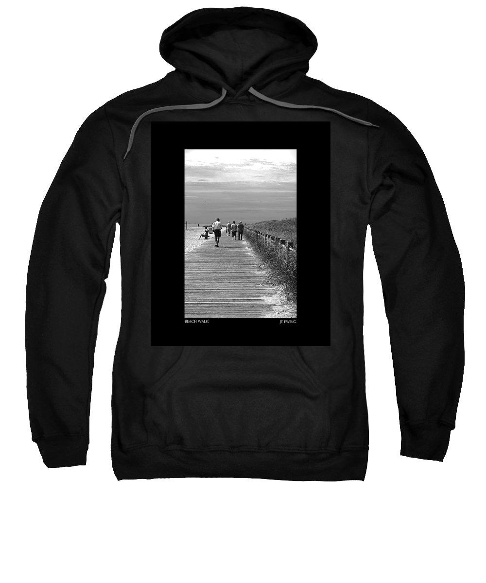 Boardwalk Sweatshirt featuring the photograph Beach Walk by J Todd