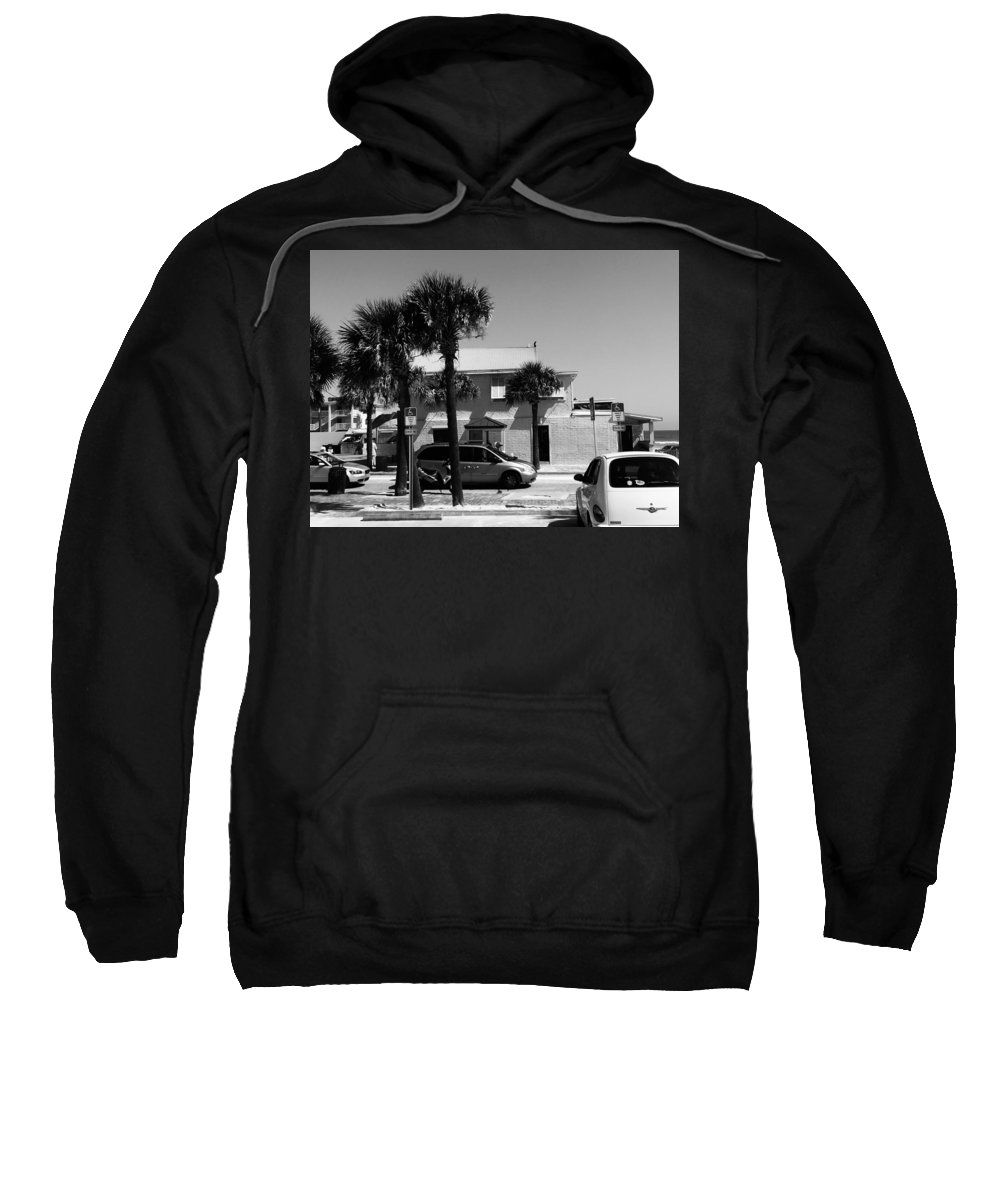 Palm Trees Sweatshirt featuring the photograph Beachside Bar by Kendall Tabor