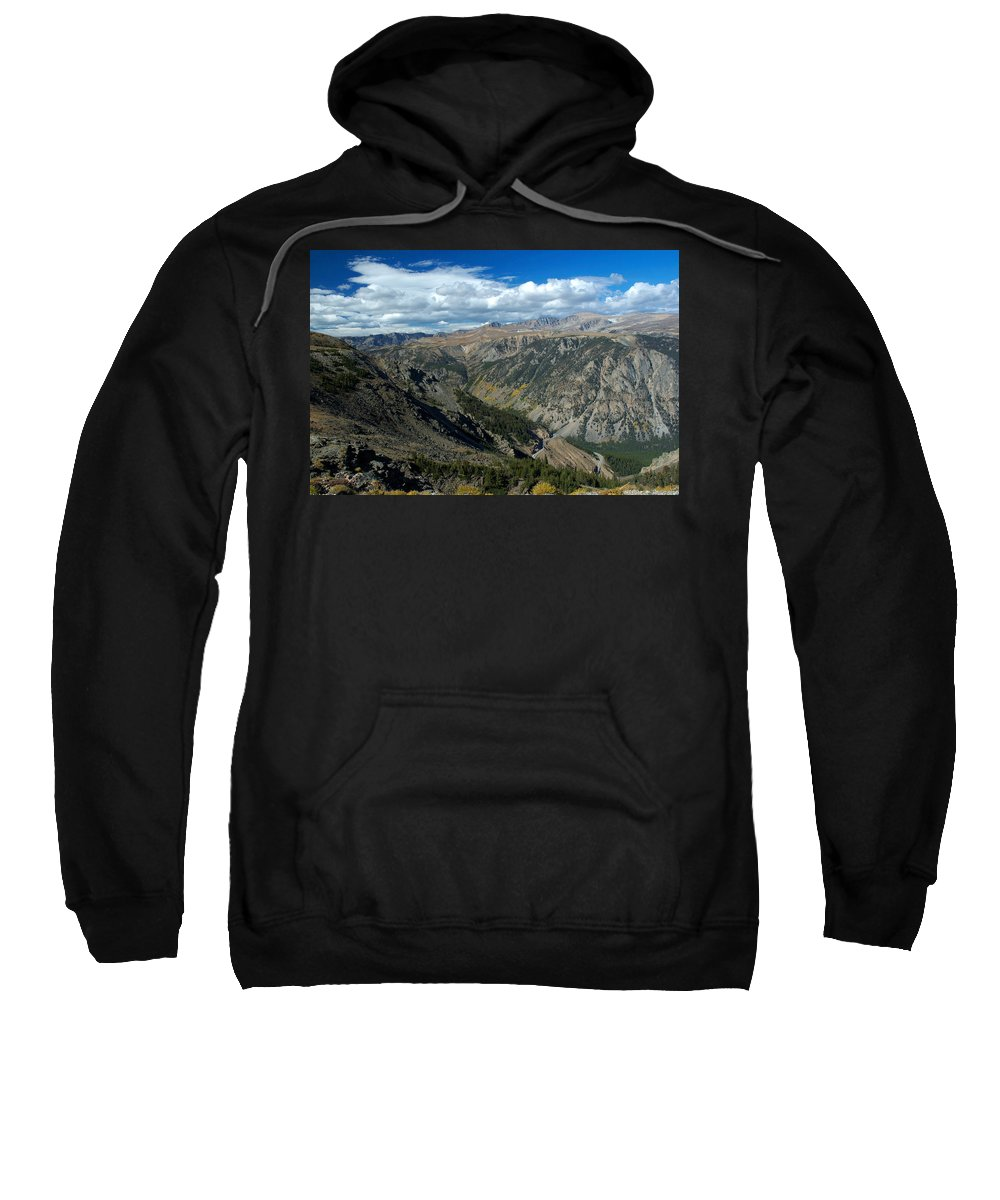 Beartooth Mountains Sweatshirt featuring the photograph Beartooth Mountain Vista by Larry Ricker