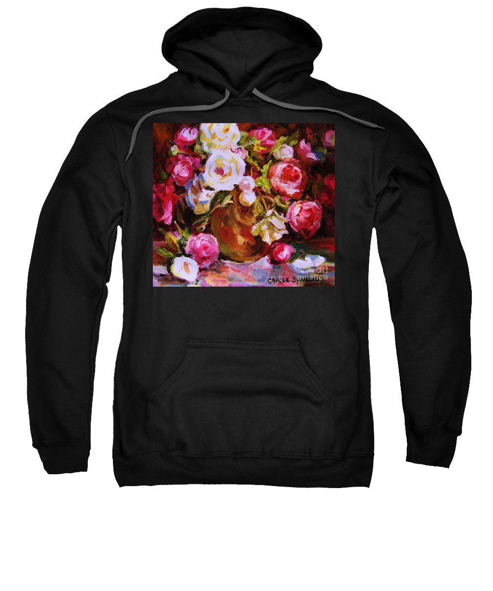 Roses Sweatshirt featuring the painting Beautiful Bouquet by Carole Spandau