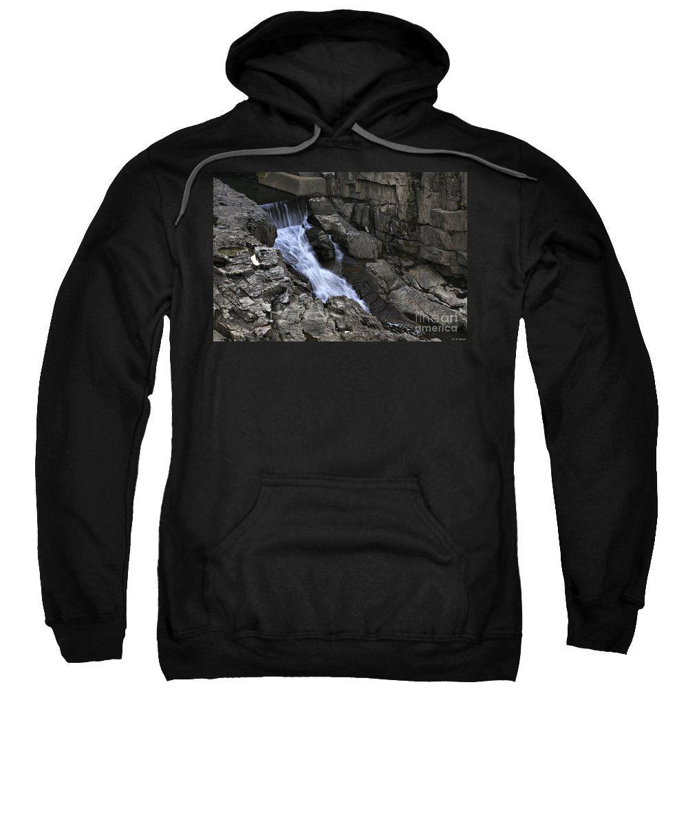 Water Sweatshirt featuring the photograph Beautiful Flow Of Power by Deborah Benoit