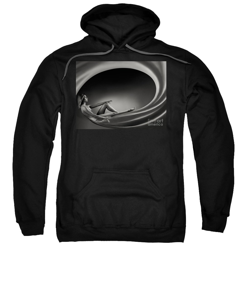 Beautiful Sweatshirt featuring the photograph Beautiful Woman In A Whirl Of Power by Oleksiy Maksymenko