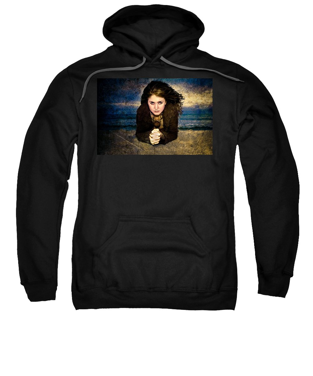 Woman Sweatshirt featuring the photograph Beauty On The Beach by Rich Leighton