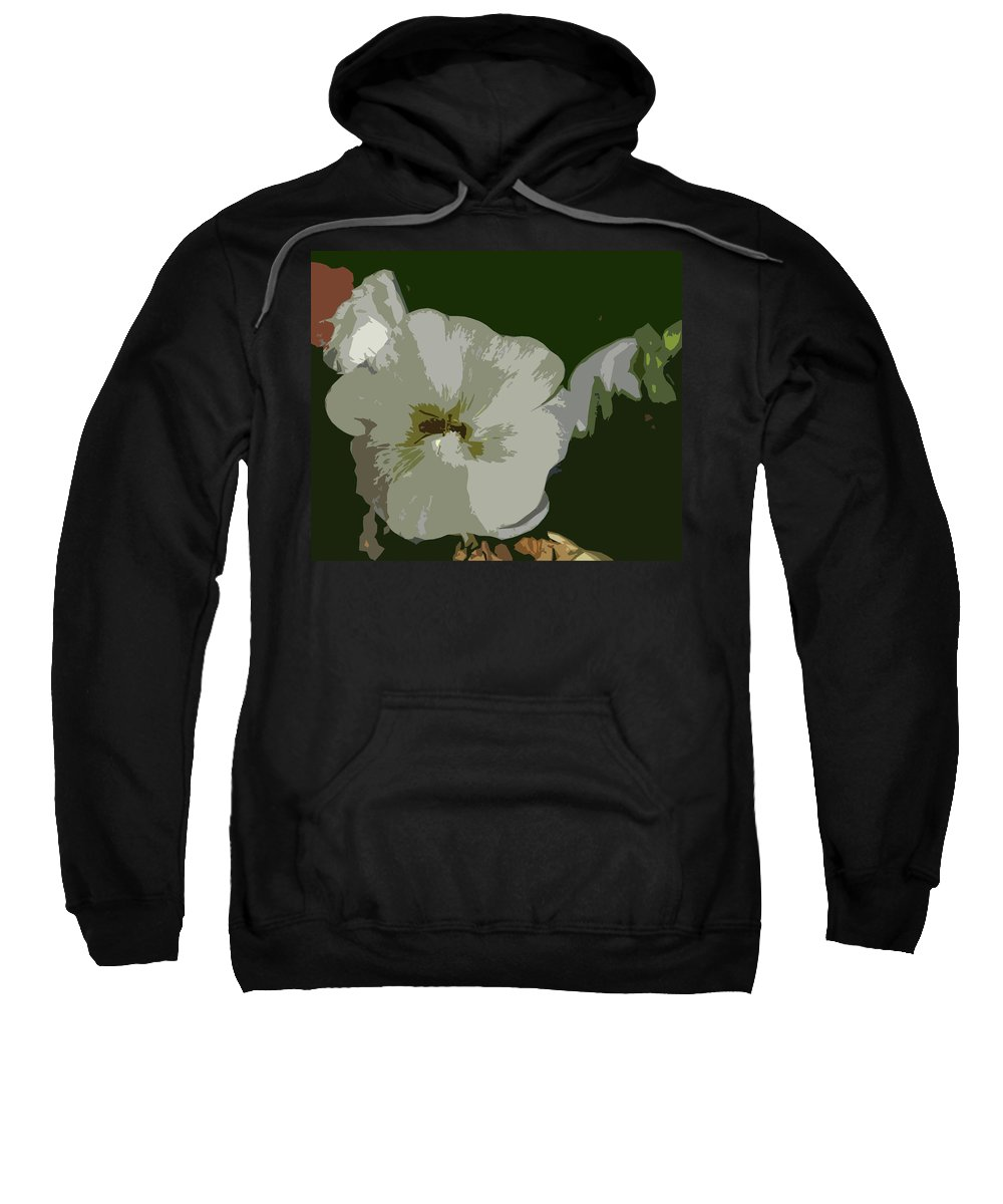 Abstract Sweatshirt featuring the photograph Bee In The Hollyhock by Lenore Senior