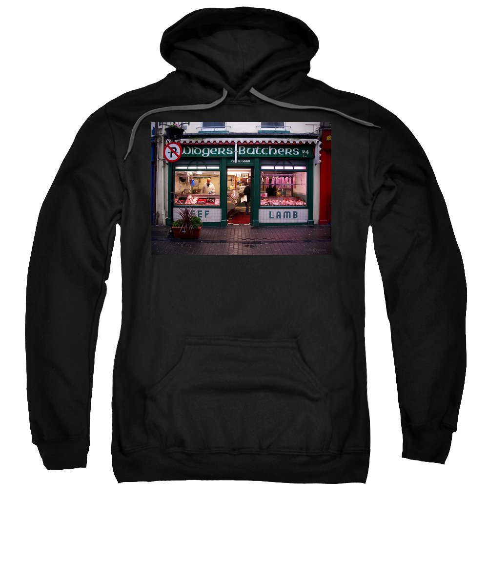 Butcher Sweatshirt featuring the photograph Beef Lamb by Tim Nyberg
