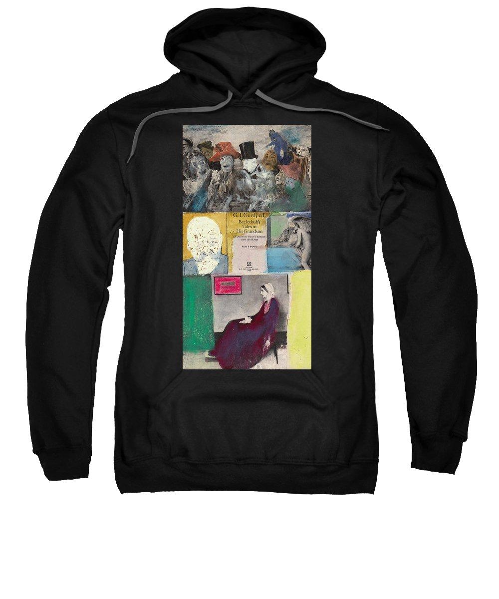 Gurdjieff Sweatshirt featuring the mixed media Beelzebub by Joe Michelli