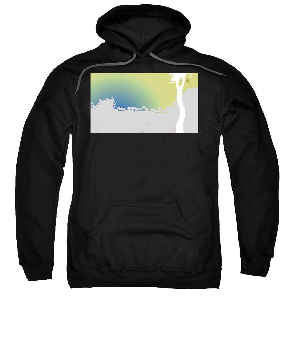 Digital Sweatshirt featuring the digital art Before Dawn by Anil Nene