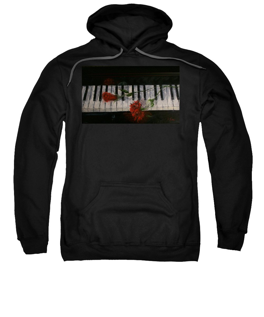 Still Life Sweatshirt featuring the painting Before The Concert by Stephen King