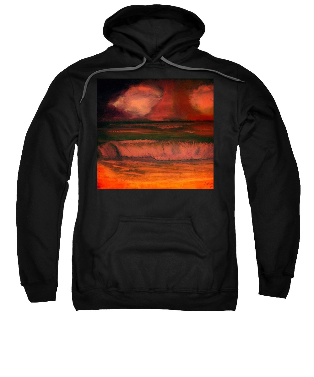 Clouds Sweatshirt featuring the pastel Before The Storm by Melvin Moon