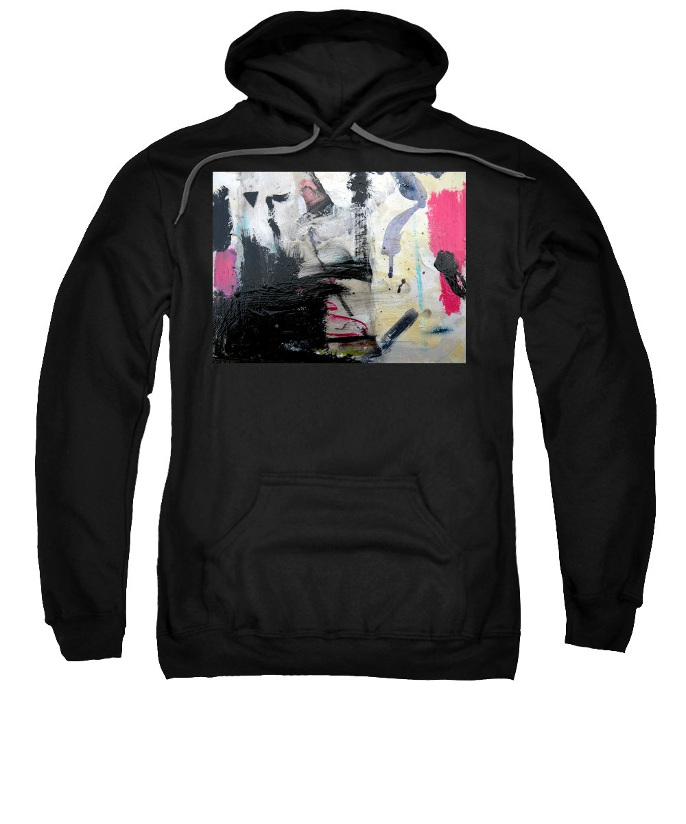 Abstract Sweatshirt featuring the painting Beginning To Heal by Janis Kirstein