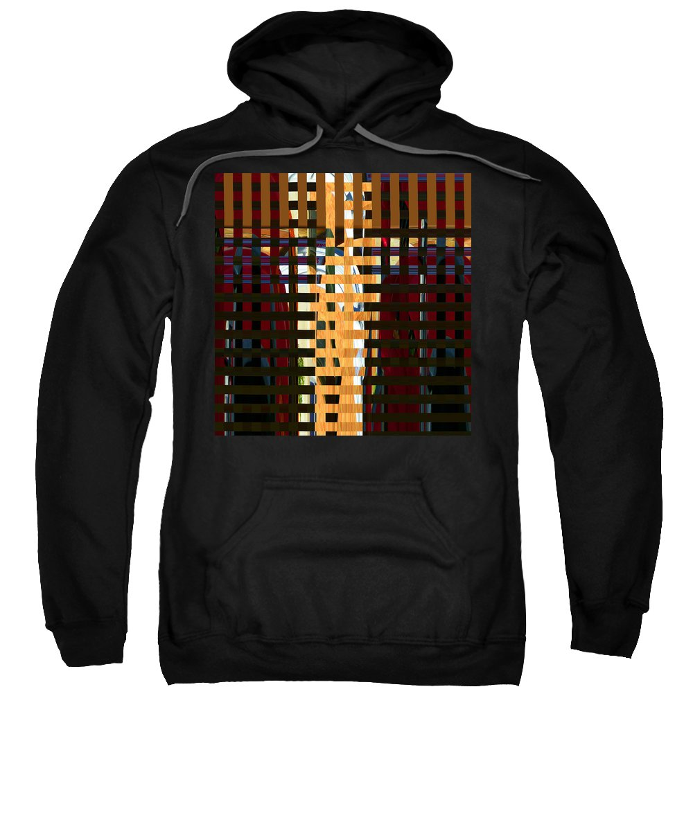 Abstract Sweatshirt featuring the digital art Behind Bars by Lenore Senior