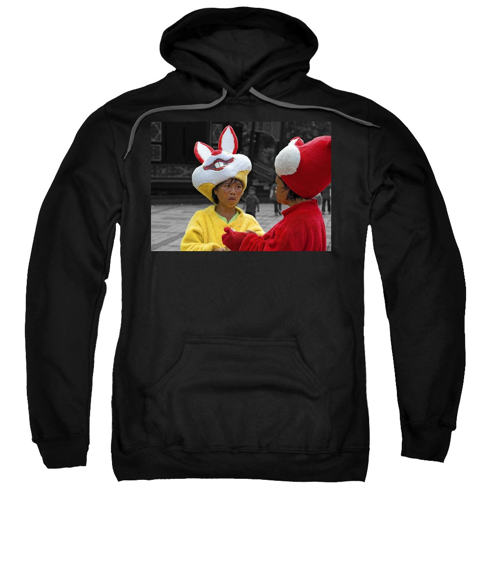 Life Sweatshirt featuring the photograph Behind The Mask by Charuhas Images