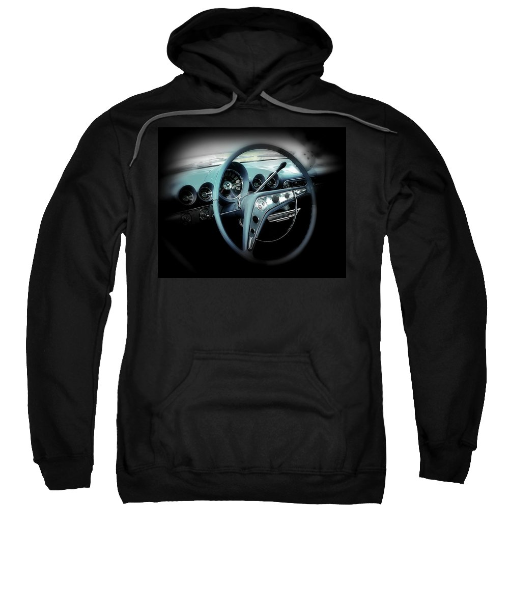 Car Sweatshirt featuring the photograph Behind The Wheel by Perry Webster
