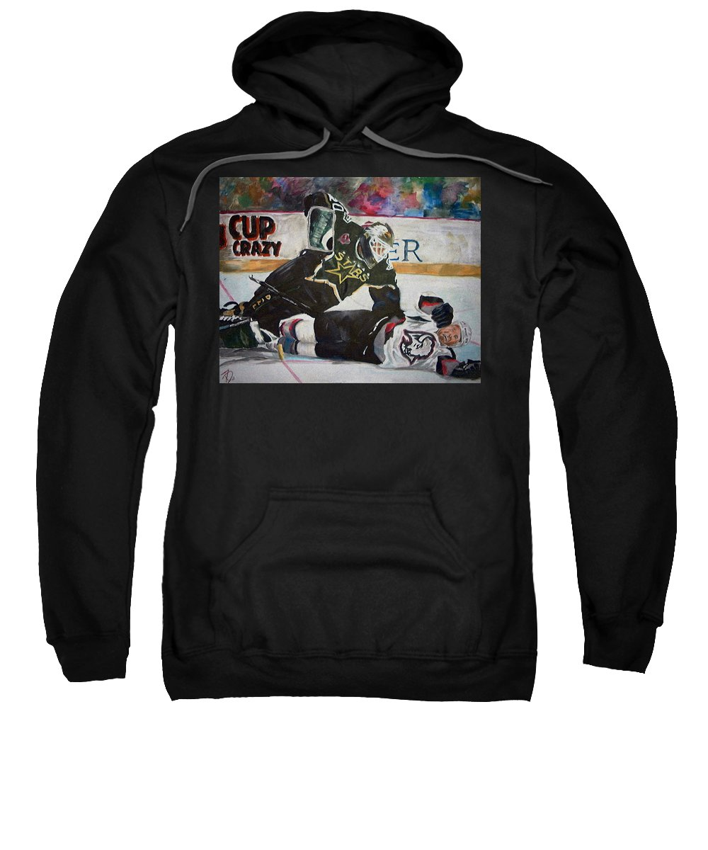 Belfour Sweatshirt featuring the painting Belfour by Travis Day