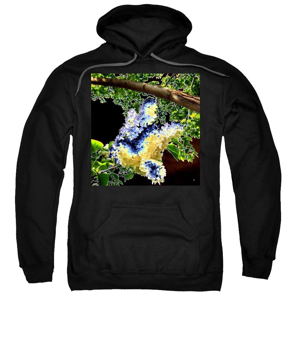 Bella Flora Sweatshirt featuring the digital art Bella Flora 10 by Will Borden