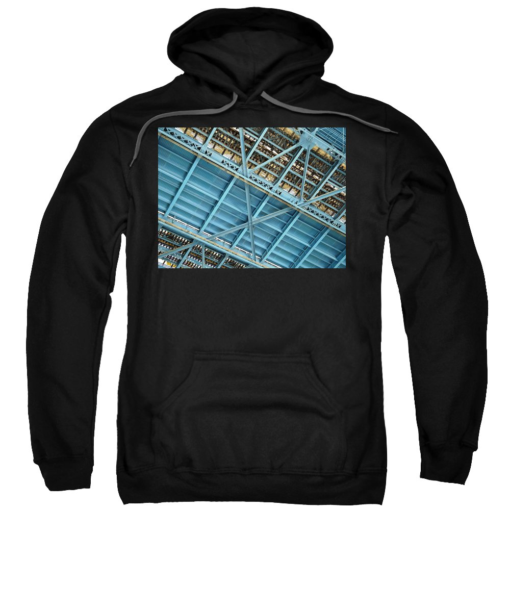 New York Sweatshirt featuring the photograph Below The Bridge by Valerie Ornstein