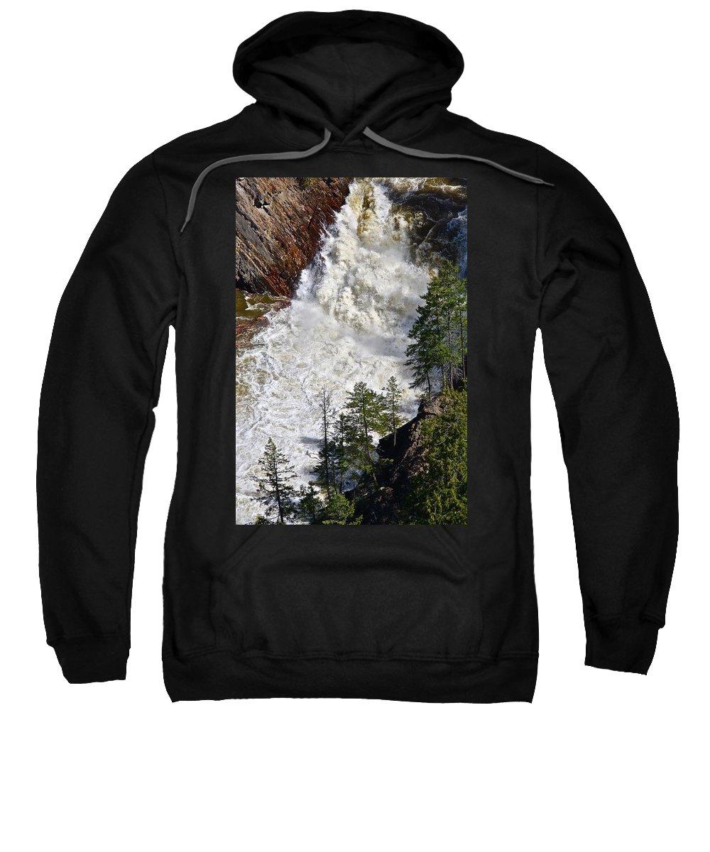 Water Sweatshirt featuring the photograph Below The Dam by Diana Hatcher