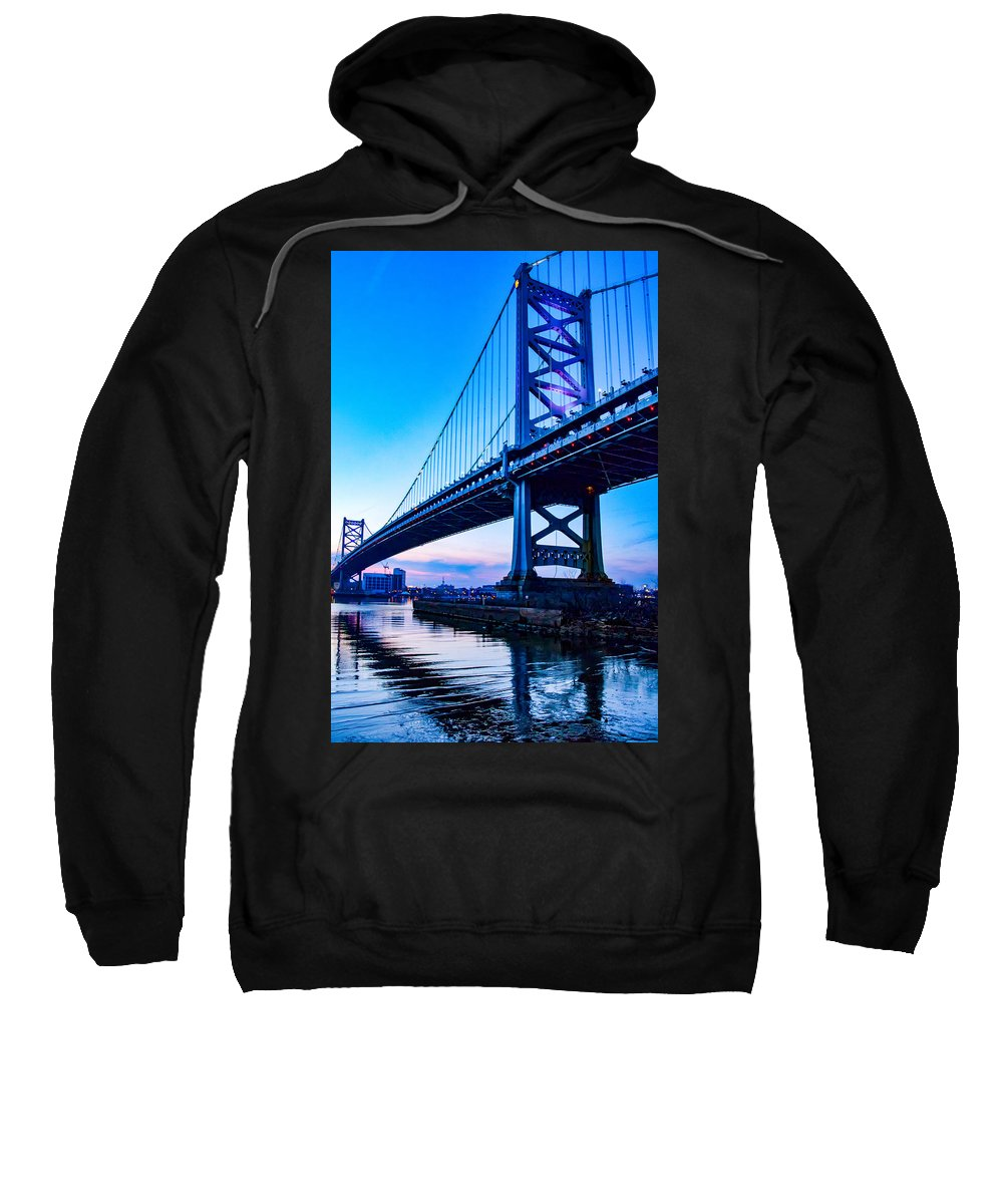 Ben Franklin Bridge Sweatshirt featuring the photograph Ben Franklin Bridge by Carol Ward