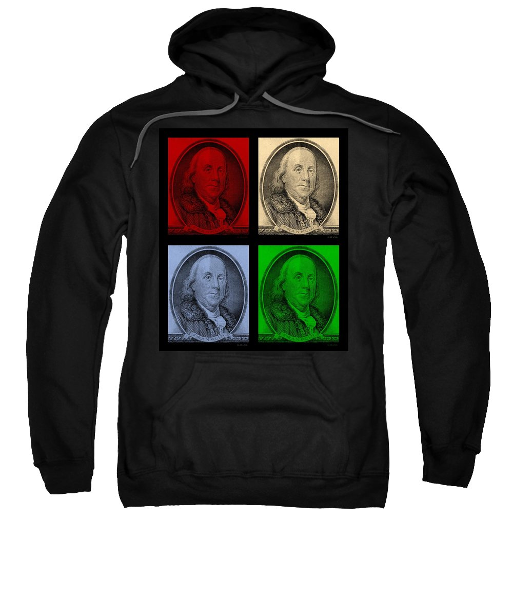 Ben Franklin Sweatshirt featuring the photograph Ben Franklin In Colors by Rob Hans