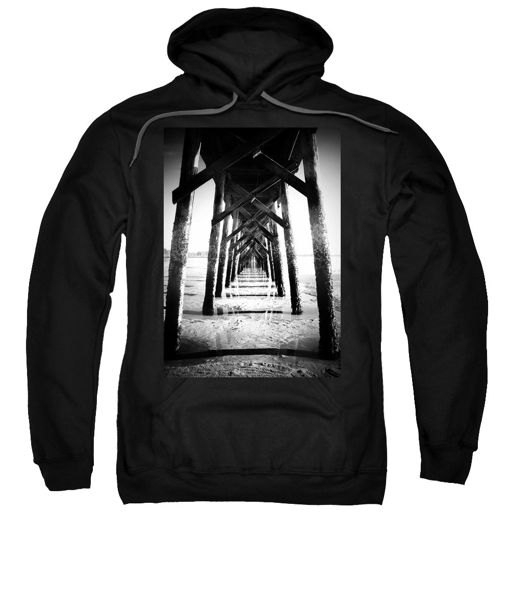 Pier Sweatshirt featuring the photograph Beneath The Pier by Tara Turner
