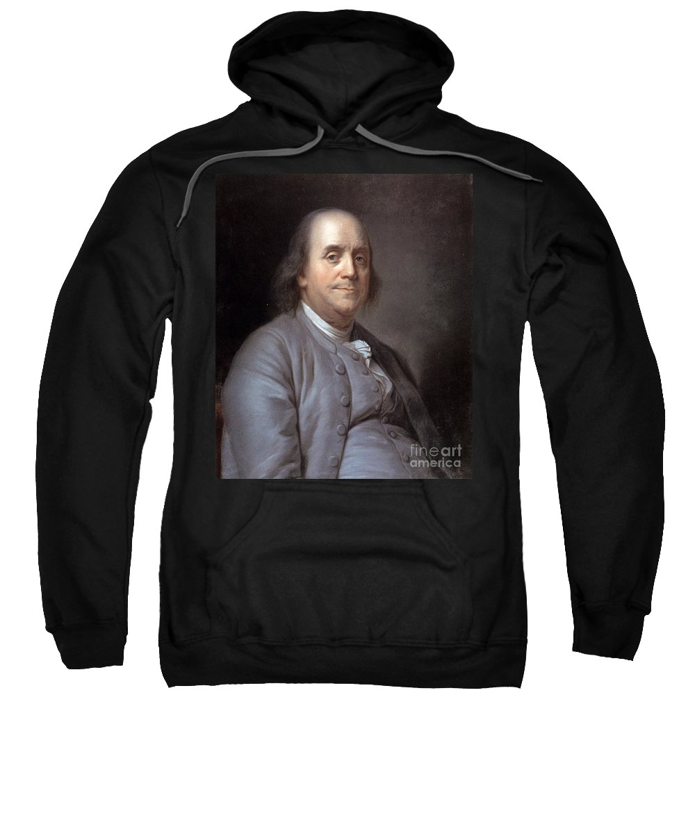 1783 Sweatshirt featuring the photograph Benjamin Franklin by Granger