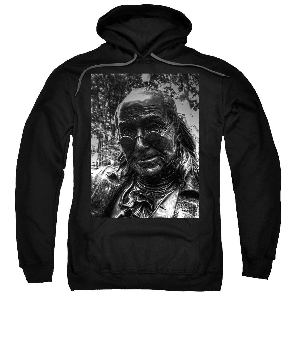 Benjamin Franklin Sweatshirt featuring the photograph Benjamin Franklin Memorial by Tommy Anderson