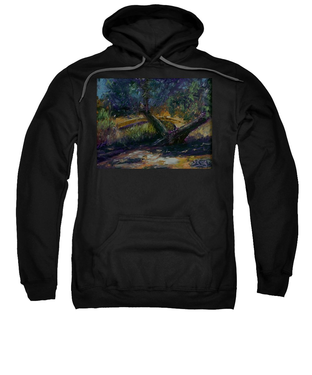 Landscape Sweatshirt featuring the painting Bent Tree by Stephen King