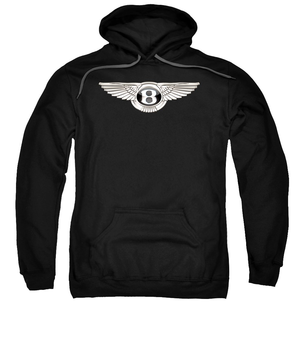 'wheels Of Fortune' By Serge Averbukh Sweatshirt featuring the photograph Bentley - 3 D Badge On Black by Serge Averbukh