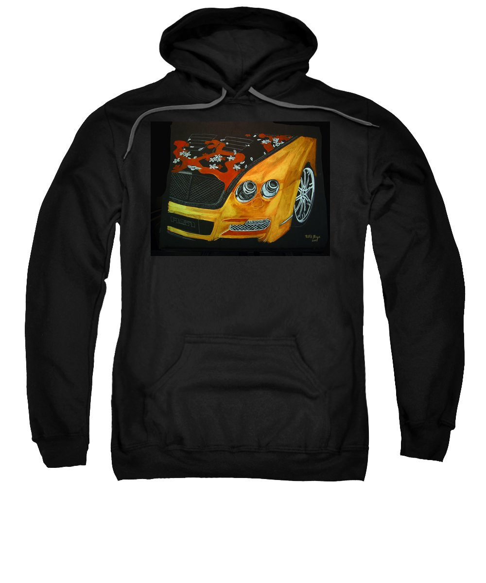 Bentley Sweatshirt featuring the painting Bentley W66gts by Richard Le Page