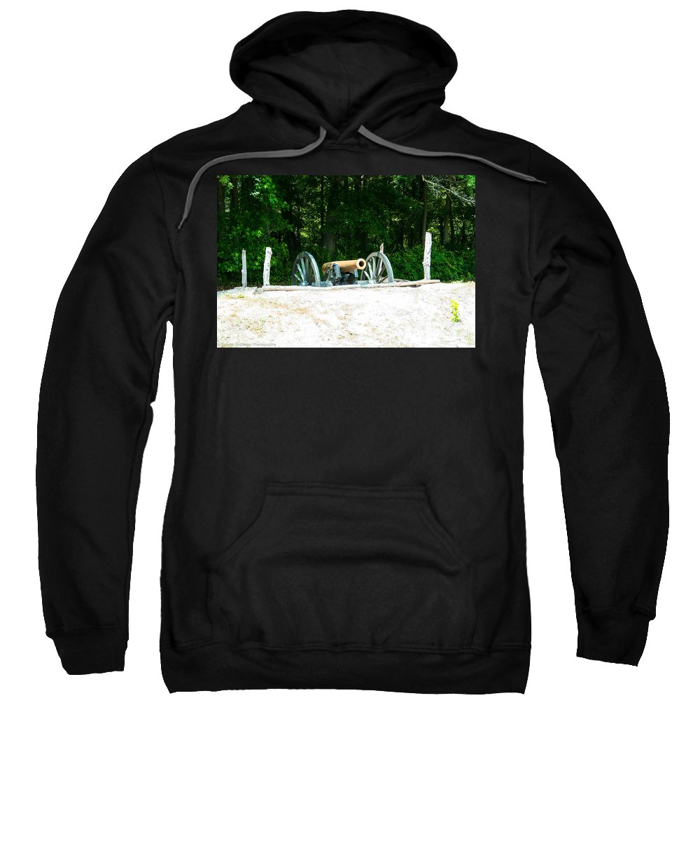 Bentonville Sweatshirt featuring the photograph Bentonville Nc Confederate Line by Tommy Anderson